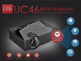 Mini Projetor Uc46 Hdmi 130 Polegadas - Ver Descrição