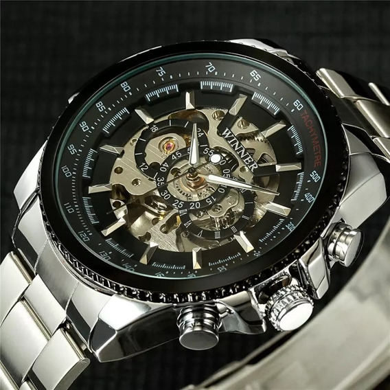Relógio Winner Automático Prata Aprova D