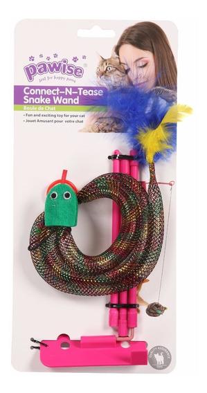 Brinquedo Cobra Vai Vem Para Gatos De Pendurar C/ Acessórios