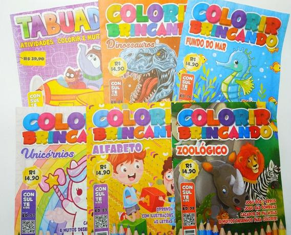 220 Livro Revistinha Livrinho Para Colorir Infantil Pintura