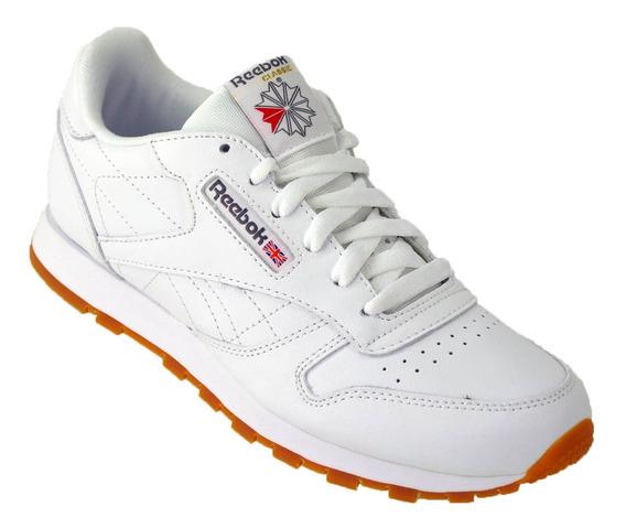 Zapatilla Niños Reebok Classic Leather Moda Original Blanco