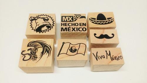 Viva México !!! Sellos De Goma Modelo 2