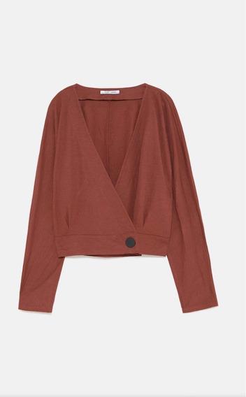 Camisa Cuerpo Cruzado Botón - Zara