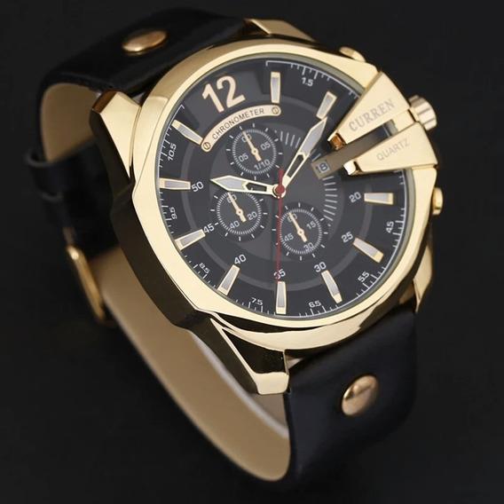 Relógio Masculino Barato Curren Pulseira De Couro Original C