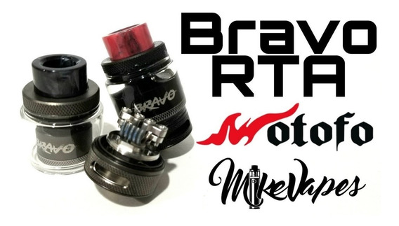 Wotofo Bravo Rta Atomizador Lacrado C/ Qr Code + Brinde
