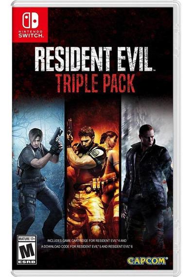 Resident Evil Triple Pack Switch Mídia Física Novo Lacrado