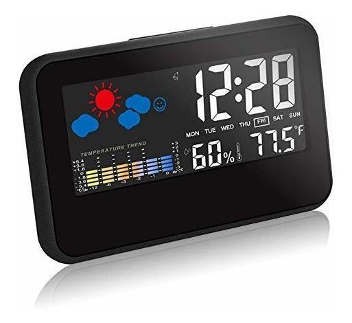 Reloj Despertador Digital Multifunción De Hora, Fecha Tempe