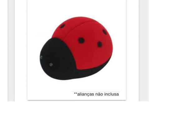 Estojo Caixinha Joaninha Veludo Para Alianças 762405 Vb