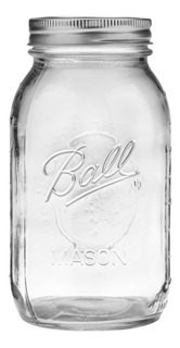 Ball Glass Mason Jar W Lid & Band, Boca