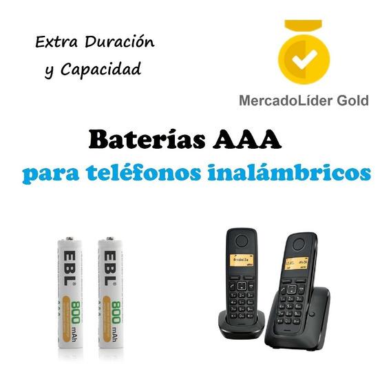Par De Pilas / Baterias Recargables Aaa | Telefonos Inalamb