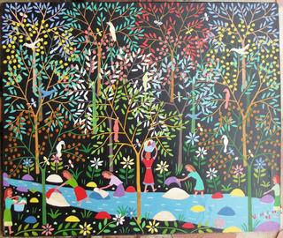 Hermosa Pintura Al Óleo De Vicente Chirinos