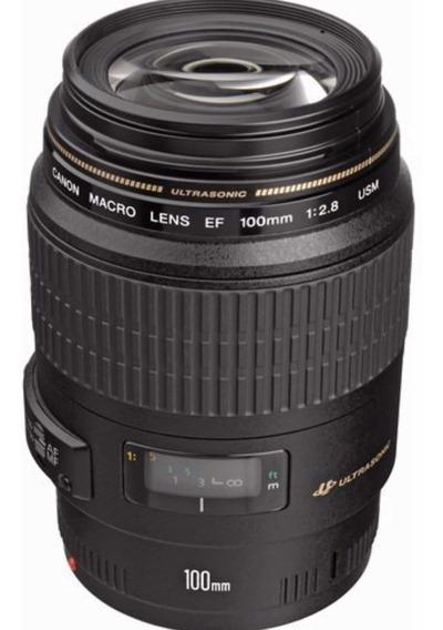 Lente Canon 100mm Ef Macro