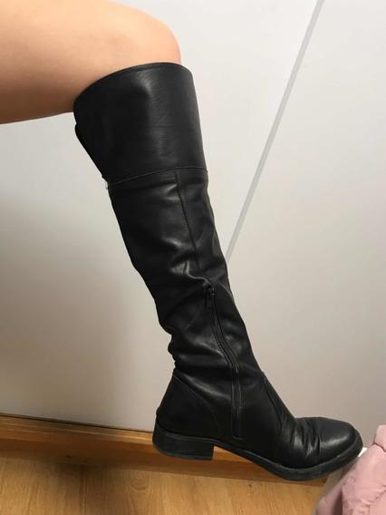 Botas Cuero Negro Caña Alta Lucerna 40