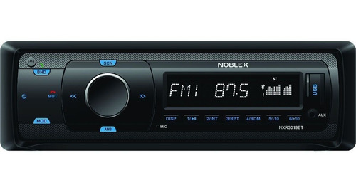 Estereo Bluetooth Para Auto Usb Am Fm Noblex Nxr3019bt