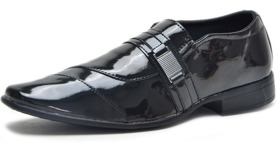 Sapato Social Masculino Couro Confort System Bico Quadrado