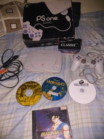 Playstation One Com Caixa Jogos Controle Analógico
