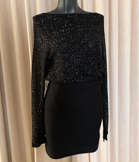 Blusa Brillosa Zara Talla 28