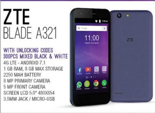 Zte Blade A321 Android 7.1 Ram 1gb 5.0 Quad-core 2200mah 4g