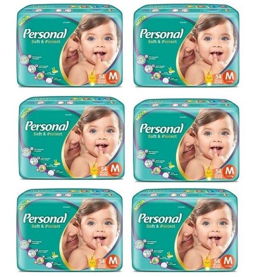 324 Fraldas Descartáveis Personal Baby Tamanho M