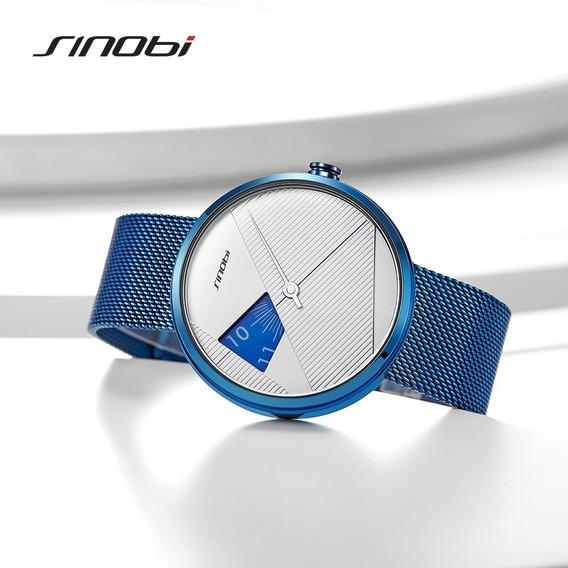 Relógio Masculino Luxo Sinobi Milan