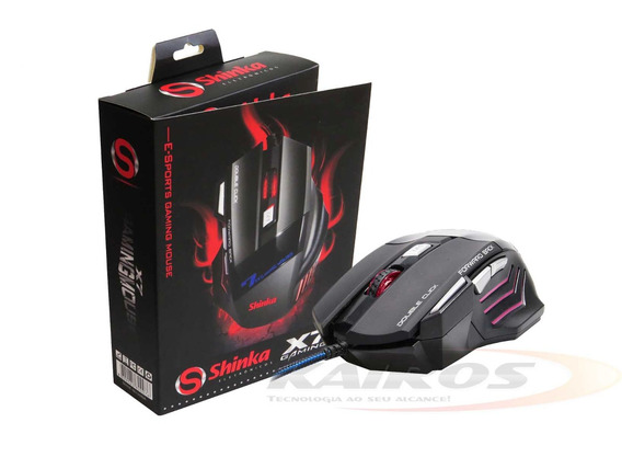 Mouse Gamer C/ Fio Usb 7d 800 A 2400 Dpi Preto