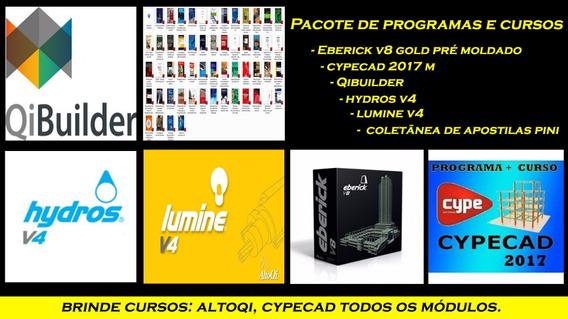 Instalação/progra Eberick, Hydros E Lumine Qibuilder Cypecad