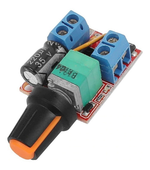 Controle Velocidade Motor Dc 3-35v 5a Dimmer Led Pwm 1%-100%