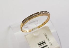 Anel Aparador De Aliança Feminino Diamantes Naturais Ouro18k