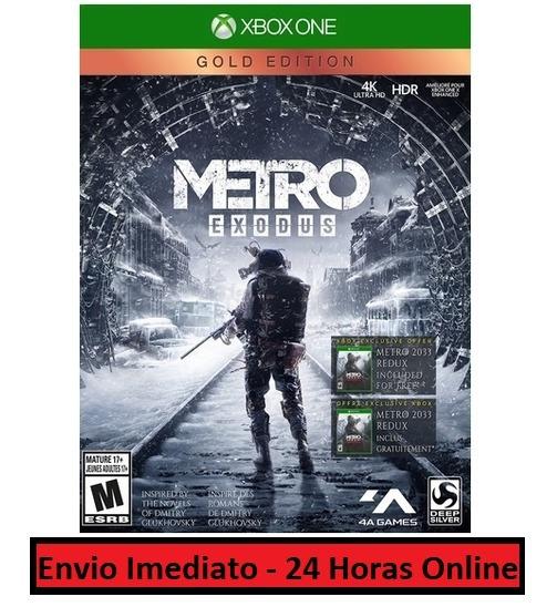 Metro Exodus Jogo + Todo Conteúdo Extra Xbox One Digital