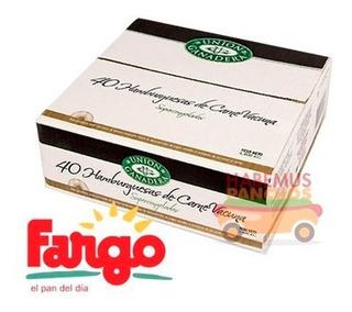 40 Hamburguesas Unión Ganadera 110 Grs + Fargo + Aderezo
