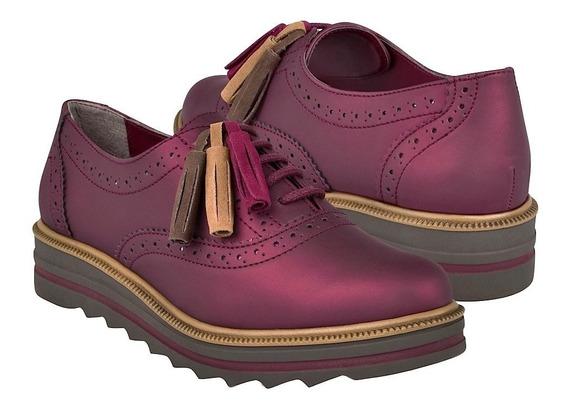 Zapatos Casuales Para Dama Capa De Ozono 374512-3 Vino