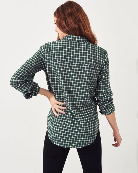 Camisa Hollister Quadriculada Feminina Original Xadrez Fr Gr
