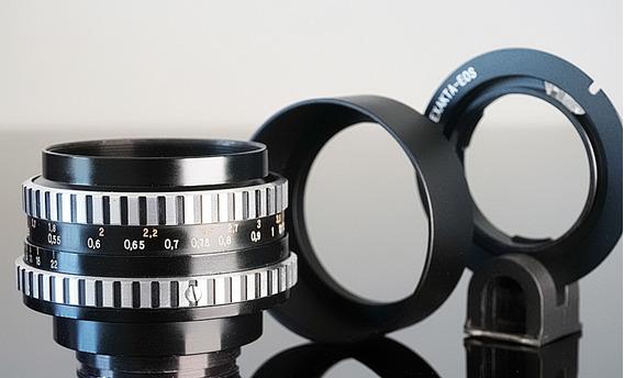 Lente C. Zeiss Tessar Zebra 50mm + Adaptador Canon Ef-mount
