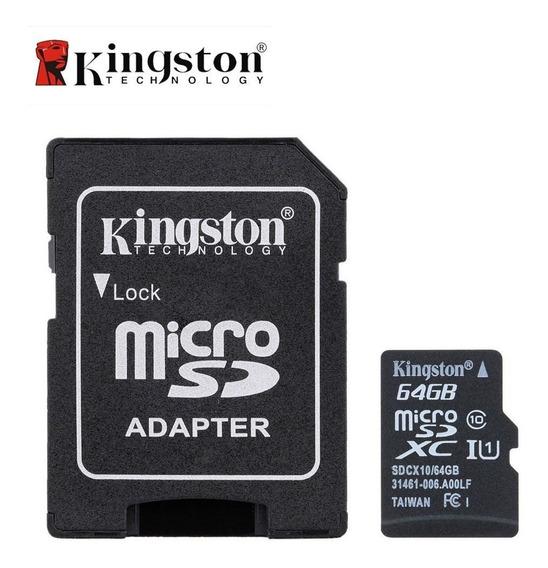 Memoria Micro Sd 64gb Kingston Celular Camara Adaptador Nnet