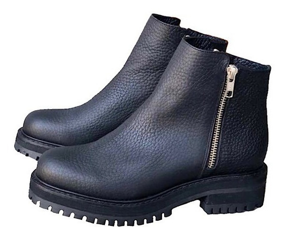 Zapato Mujer Bota Borcego Cuero Graneado - Lynch - #208