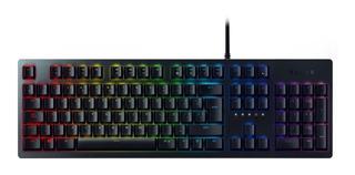 Teclado para pc QWERTY Razer Huntsman español españa negro con luz RGB
