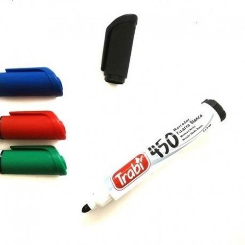 Imagen 1 de 3 de Promo Marcadores Para Pizarra Trabi 450 X4 Colores