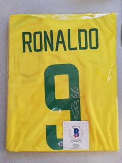 Jersey Autografiado Ronaldo Brasil 2002 Certificado Beckett