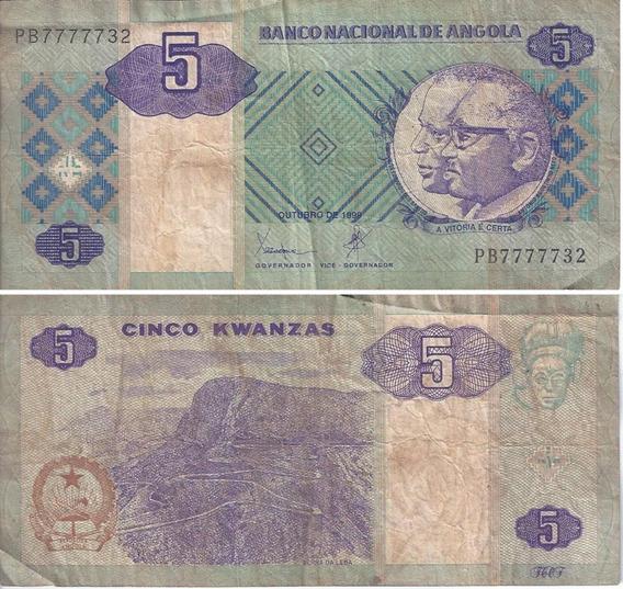 Moeda Papel Cédula Angola 100 ,10, 5 Kuanzas Dinheiro Oferta