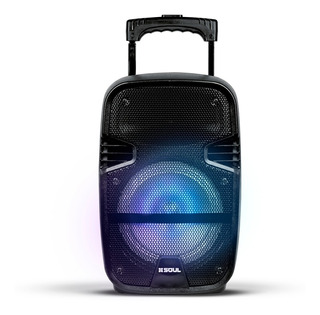 Parlante Bluetooth Portatil Mic Karaoke Luces Led Mp3 Lector