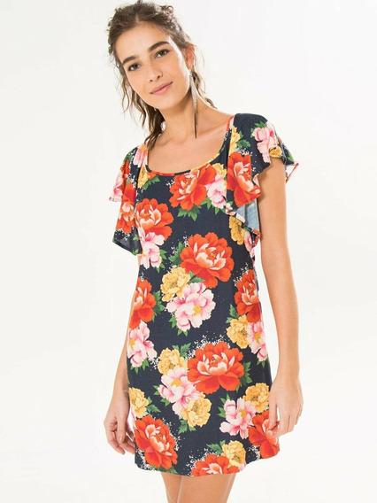 Vestido Farm Chita Floral Tam G Novo Com Tag