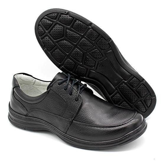 Sapato Masculino Em Couro Confort Plus Bm Brasil 2712
