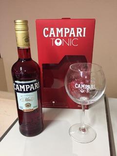 Campari Tonic + Copa Estuche