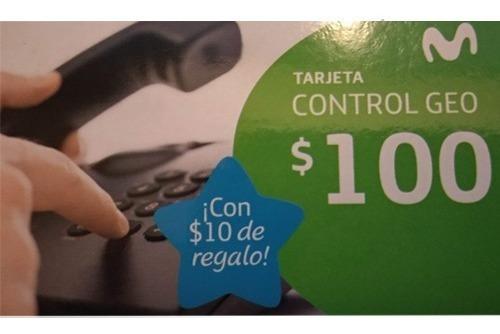 Tarjeta Control Geo Movistar / Telefónica $100 + $10 Pin.