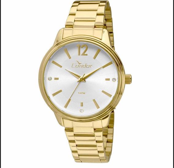 Relógio Condor Feminino Dourado Com Kit Co2035kmh/k4k