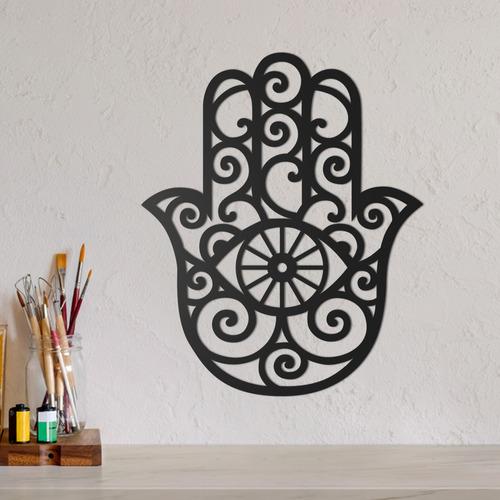 Imagem 1 de 2 de Quadro Decorativo Parede Esotérico Hamsa Hand 30cm
