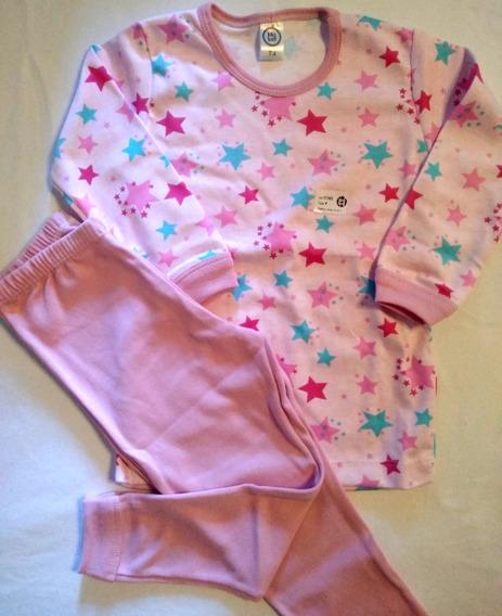 Pijama De Niña Estrellas T4. Pantalón Con Puño !! Big Bay