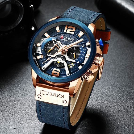 Relógio Curren, Quartzo De Luxo Militar, Esportivo E Casual!
