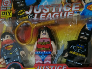 Blister 3 Personajes Batman Súperman Y Mujer Maravilla
