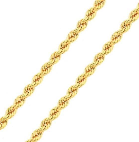 Corrente De Ouro 18k Cordão Baiano 50cm 2,1mm - F41